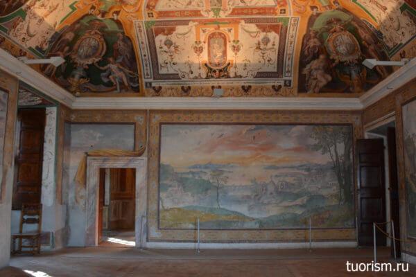 стена, роспись, зал Ноя, вилла д'Эсте, Noah's hall, villa d'Este, Tivoli