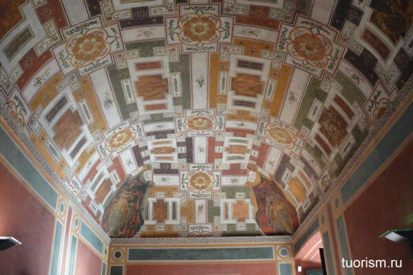 потолок, роспись ,андрон, вилла д'Эсте, Тиволи