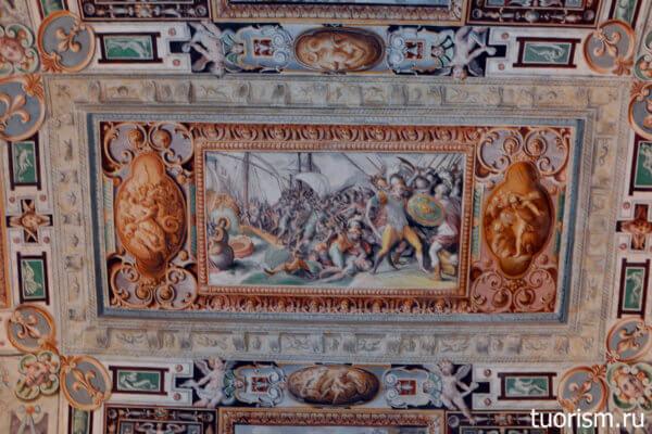 панно, фреска, вилла д'Эсте, Тибуртинский зал, First Tiburtine Hall, villa d'Este