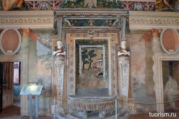фонтан, внутри помещения, в комнате, зал Фонтана, вилла д'Эсте, Hall of the Fountain, villa d'Este