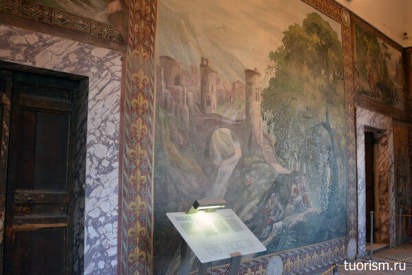 зал Охоты, панно, фреска, вилла д'Эсте, информация