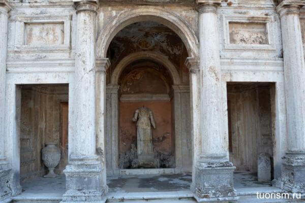 Двойная лоджия, вилла д'Эсте, нимфей, фонтан Леды, double loggia, villa d'Este