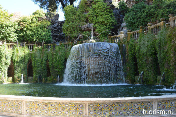 Овальный фонтан, прекрасный фонтан, втилла д'Эсте, что посмотреть