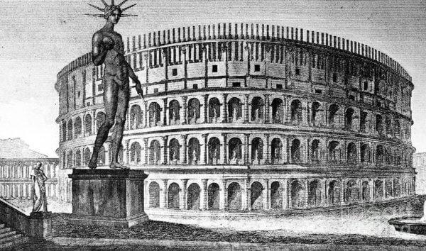 Колосс, Колизей, Рим, гравюра