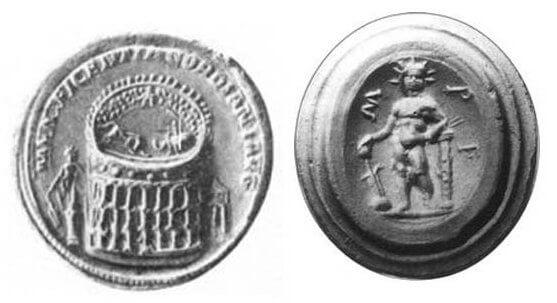 Колосс, римские монеты, изображения