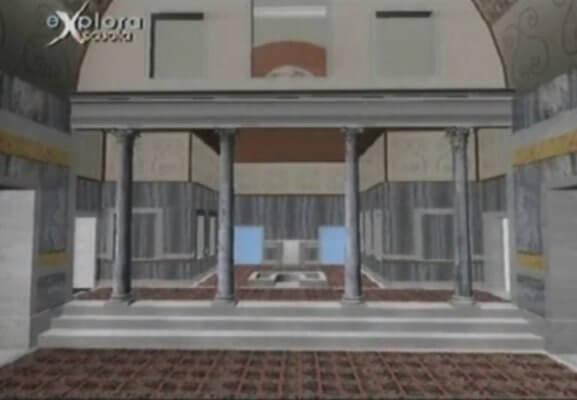 нимфей, золотой дом Нерона, реконструкция