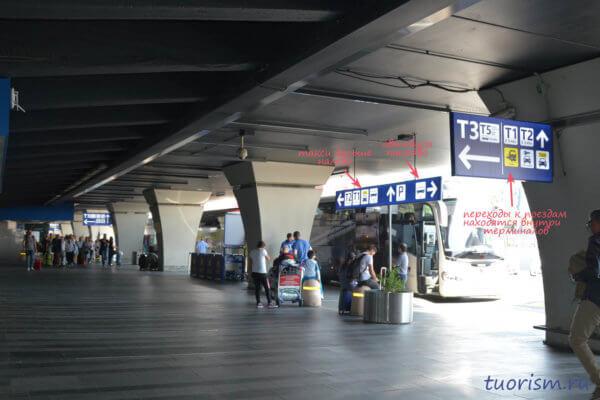 аэропорт Рима, Рим, аэропорт, прилёты, на улице, первый этаж