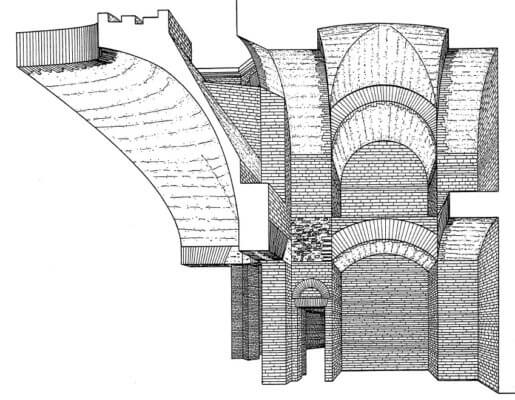 сечение, Рим, архитектура, революция, Древний Рим, востмиугольный зал, золотой дом, Домус Ауреа, Нерон
