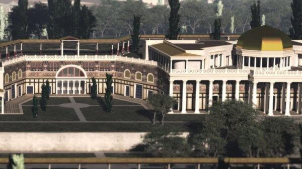 золотой дом, золотой дворец, Нерон, Домус Ауреа, реконструкция, вероятный вид