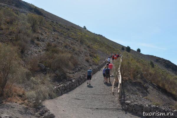 тропа, пешком, Везувий, конус, Vesuvius, way