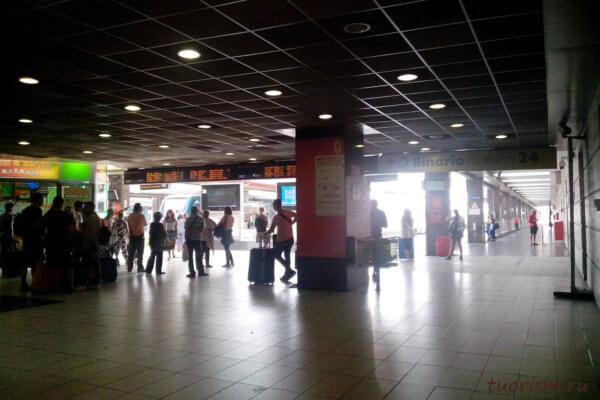 Napoli Centrale, Неаполь, внутри, станция