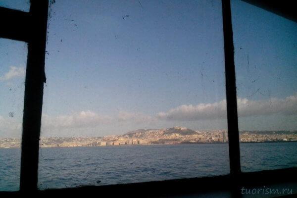Неаполь, корабль, вид, отплытие