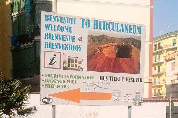 Везувий, Геркуланум, автобус, bus ticket Vesuvio