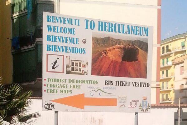 Везувий, Геркуланум, автобус, bus ticket Vesuvio