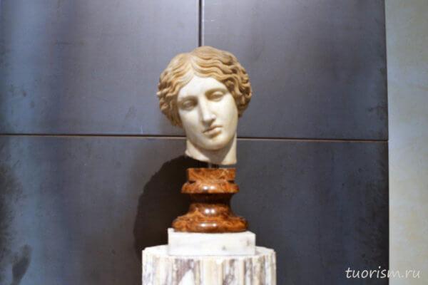 голова, амазонка, голова амазонки, скульптура, Капитолийские музеи, Рим, Head of an Amazon, Capitoline museums