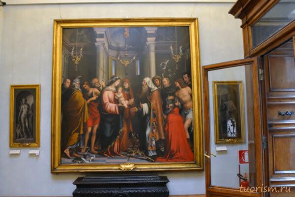 Введение во храм, картина, икона, Капитолийские музеи, Франческо Франча, Бартоломео Пассаротти, Presentation in the Temple, Francesco Francia, Capitoline museums, picture, icon
