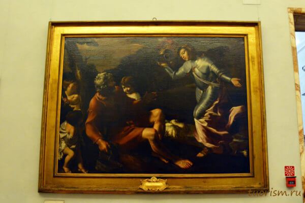 Эрминия у пастухов, Джованни Ланфранко, картина, Капитолийские музеи, картинная галерея, Erminia among the Shepherds, Giovanni Lanfranco, picture, Capitoline museums