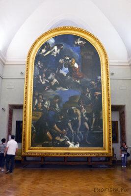 Гверчино, погребение Петрониллы, Петронилла, картина, Капитолийские музеи, Burial of Saint Petronilla, Guercino, Capitoline museums, Rome, picture