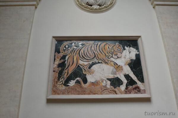 мозаика, штучная мозаика, базилика Юния Басса, Рим, Basilica of Junius Bassus, Capitoline Museums, rare mosaic, marble mosaic, coloured mosaic