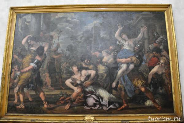 Пьетро да Кортона, похищение сабинянок, Кортона, картина, Капитолийские музеи, сабинянки, Rape of the Sabines, Капитолийские музеи, Pietro da Cortona, picture, Capitoline museums