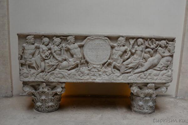 саркофаг, римский, рельеф, экспонат, Капитолийские музеи, палаццо Консерватори