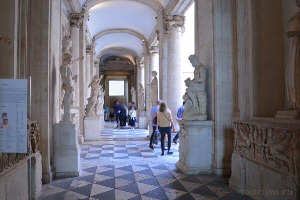 коридор, дворец Нуово, палаццо Нуово, Капитолийские музеи, palazzo Nuovo, Capitoline museums