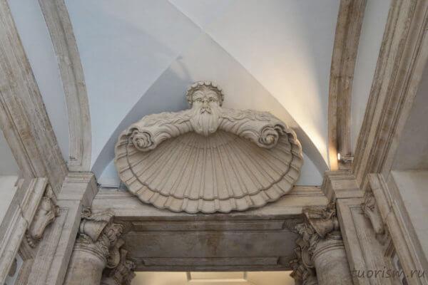 лепнина, потрясающая, потолок, красота, искусство, Рим, Капитолийские музеи
