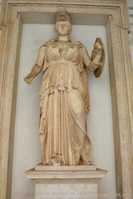 Минерва, статуя, скульптура, Капитолийские музеи, богиня, Statue, Minerva, Capitoline museums, Rome
