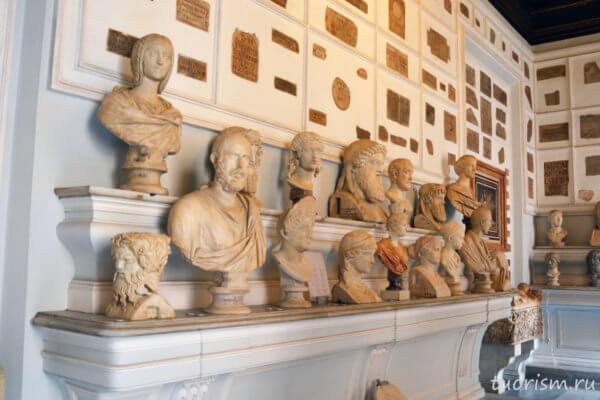 бюсты, римляне, римские бюсты, палаццо Нуово, Капитолийские музеи, внутри палаццо