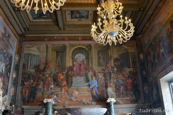 фреска, Справедливость Брута, Капитолийские музеи, fresco, Brutus' Justice, Capitoline Museums