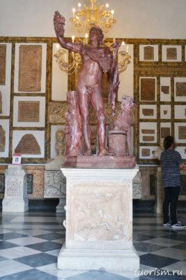 статуя, фавн, статуя фавна, розовый мрамор, красный камень, красная статуя, Капитолийские музеи, Faun, rouge antique marble, statue, Capitoline museums