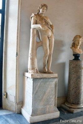 Отдыхающий сатир, статуя сатира, скульптура, мрамор, Капитолийские музеи, Statue, Resting Satyr, Capitoline museums