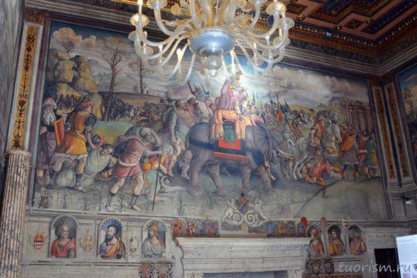 фреска, Ганнтибал, Италия, Капитолийские музеи, люстра, Annibale in Italy, fresco, Capitoline Museums, Hannibal