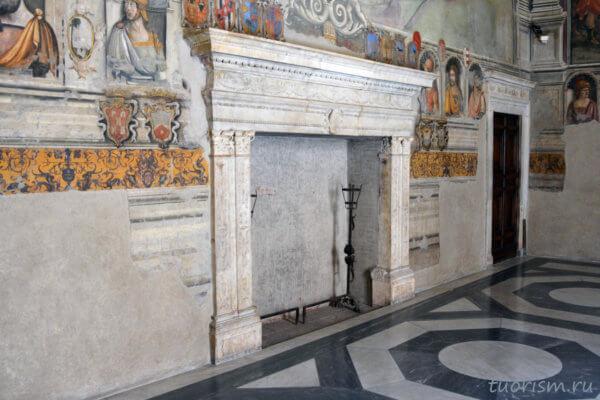 камин, Капитолийсике музеи, апартаменты консерваторов, старый камин, европейский камин