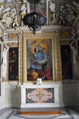 икона, Богородица, католицизм, Капитолийские музеи, часовня, между Петром и Павлом, Madonna in Glory, Peter and Paul, Capitoline Museums, capella