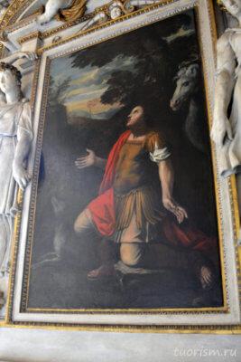 Святой Евстафий, икона, музей, Капитолийские музеи, часовня, Sant Eustachio, Capitoline Museums