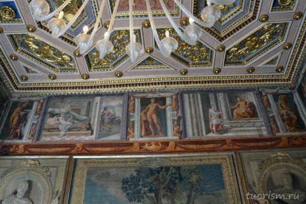 Геркулес, Геракл, нарисованный, фриз, фреска, Капитолийские музеи, зал гобеленов, Hercules, Capitoline Museums