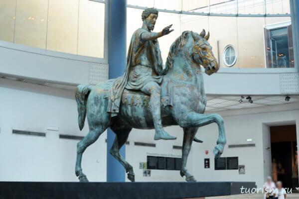 Марк Аврелий, скульптура, статуя, бронза, конная статуя, Капитолийские музеи, Capitoline museums, Marcus Aurelius