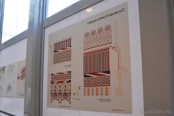 реконструкция, украшения, росписи, храм Юпитера, Капитолийский храм, Рим
