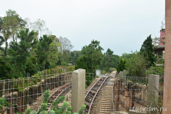 вагонетки, пути, ущлье гризли, Grizzly gulch, roller coaster, railway track, Disneyland, Hong Kong