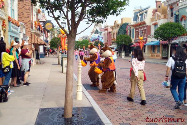 Чип и Дейл, костюмы, переодетые, герои, Азия, Гонконг, Диснейленд, Chip 'n Dale, Hong Kong, Disneyland