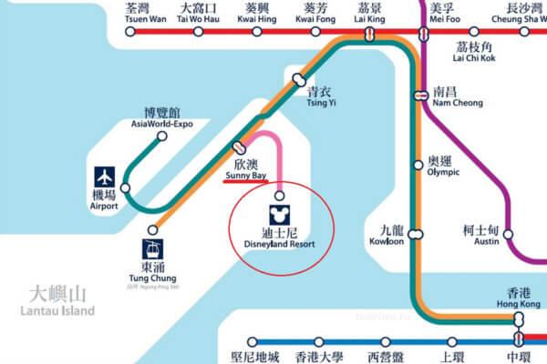 карта метро, Гонконг, Диснейленд, как добраться, карта, метро, схема, план