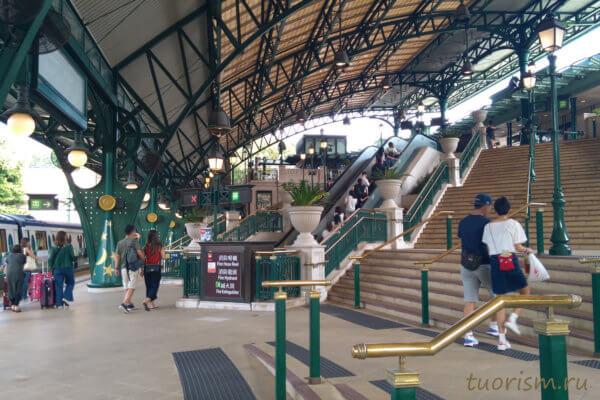 Disneyland resort, станция, станция метро, Диснейленд, Гонконг, metro station, Hong Kong