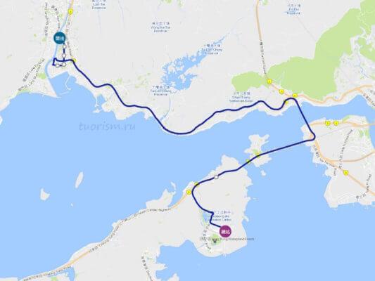 автобус r33, маршрут, Гонконг, в Диснейленд, на автобусе, остановки