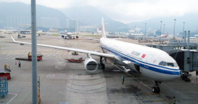 самолёт, Air China, Гонконг, аэропорт Гонконга, Hong Kong, airport