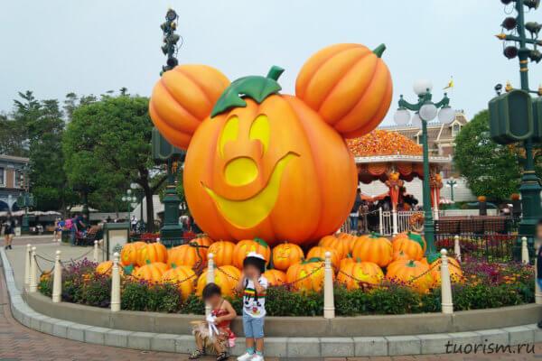 Хеллоуин, Диснейленд, Гонконг, тыквы, Микки Маус, Mickey pumpkin, Hong Kong, Disneyland, Halloween