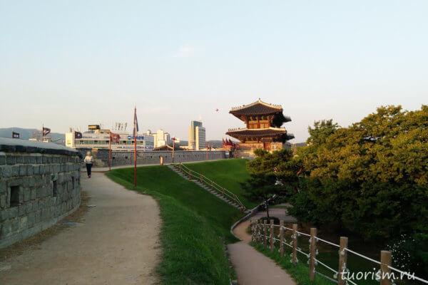 крепость, Сувон, крепостная стена, достопримечательность, fortress, Suwon, sights