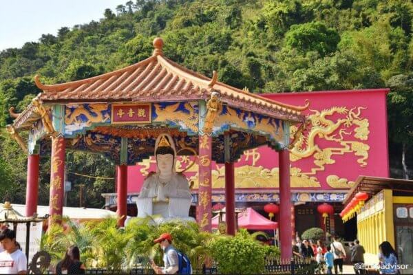 павильон, Гуаньинь, бодхисатва, монастырь, буддистский монастырь, Гонконг