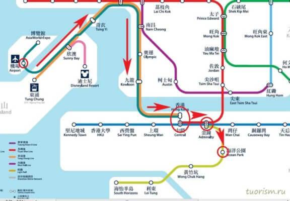 Оушен парк, как добраться, карта, карта метро, на метро